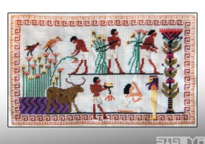Cross-Stitched Egyptian Mural