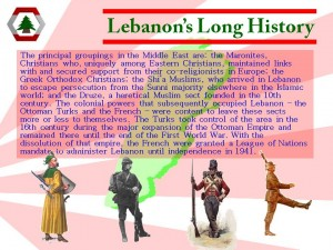 Lebanon Presentation History Slide