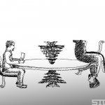 Caricature: Lebanese Round Table Talks