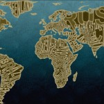 Thumbnail image for Design: Typographic World Map